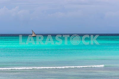 Boat sailing in the Indian Ocean
