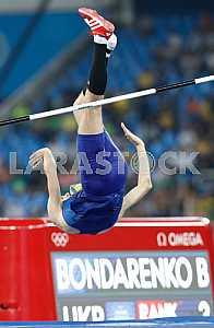 Bogdan Bondarenko, a bronze medalist in the high jump