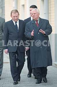 Leonid Kravchuk and Leonid Kuchma