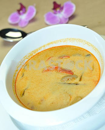 Thai soup with coconut milk