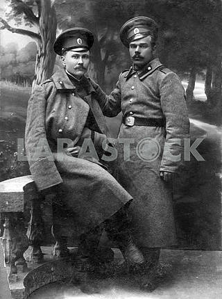 Russian soldiers. First World War