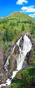 Waterfall on the river Big Kokkol. Altai.