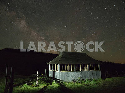 A house against the starry sky