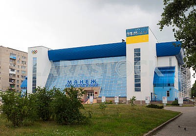 Track and field athletics arena in Sumy
