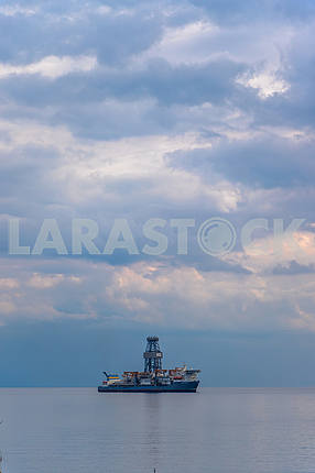 Oil-gas ship off the coast of Cyprus