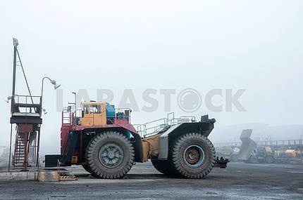 Trucks at repairs