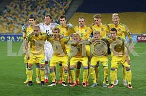 The national team of Ukraine on football