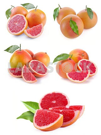Set grapefruit with segments
