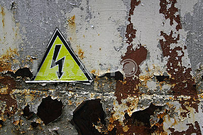 The high voltage warning sign