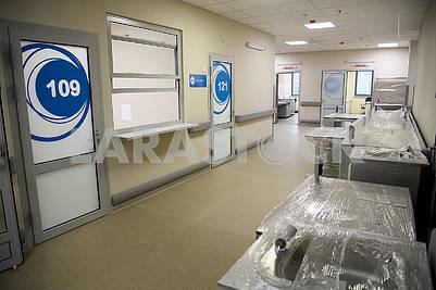 Okhmadit hospital corridor
