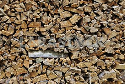 Dry firewood in a pile