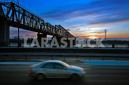 Cars  on a blurred background