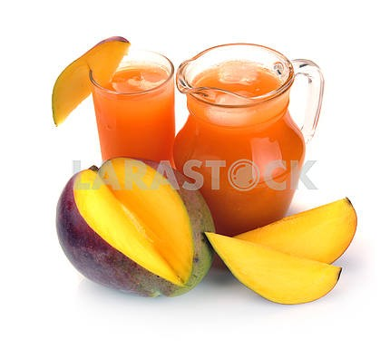 Mango juice and fruit