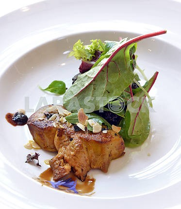Foie gras with salad