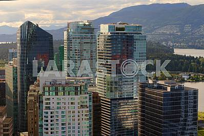 View from the bird's-eye view of the city of Vancouver, Canada