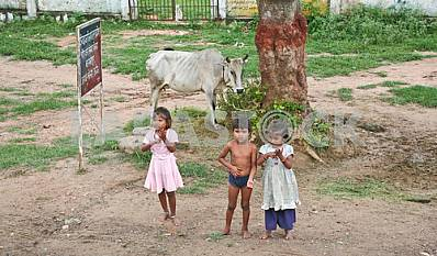 Indian children in the street