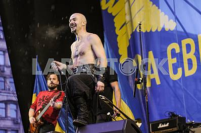 Alexander Yarmola - the leader of Ukrainian rock band '' Haydamaky '