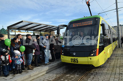 Tram line to Sykhiv district