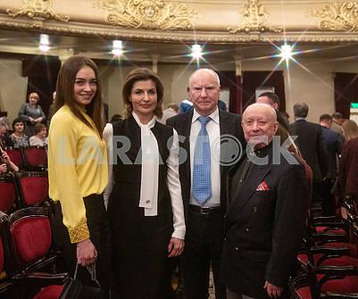 Maryna Poroshenko and teachers