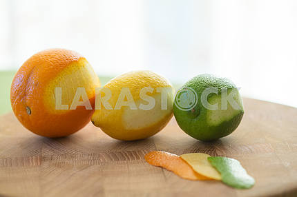 Citrus fruits. Oranges, limes and lemons.