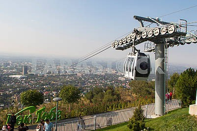 Cable car in Almaty
