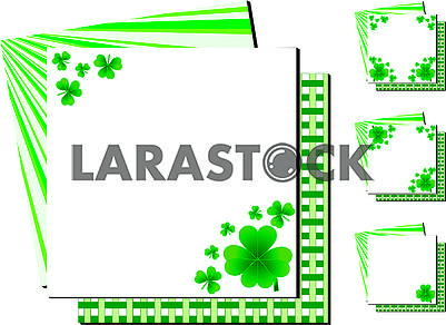 Set of simple Backgrounds for St. Patrick's Day Cards