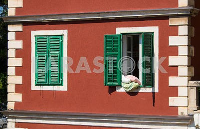 Windows and shutters in Sibenik