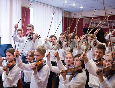 Students of the Institute of Music. Gliere