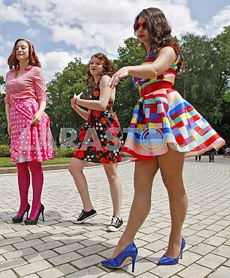Hipsters parade in Kiev
