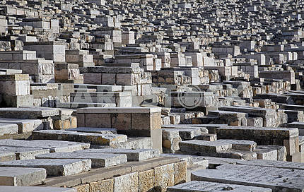 The Jewish cemetery on the Mount of Olives, in Jerusalem