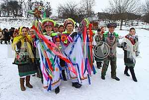 Celebrating Malanka in Chernivtsi