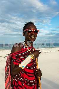 Male warrior tribe of Masai