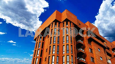 Red brick multi-story building
