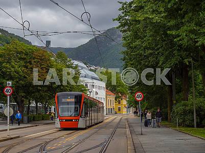 Tram in Bergen