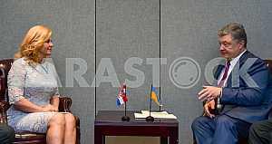 Petro Poroshenko and Kolinda Grabar-Kitarović