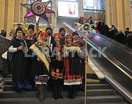 Kolyadniki at the railway station