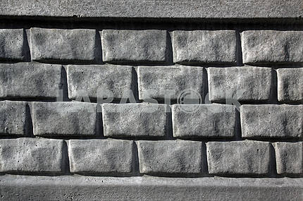 Monochrome gray concrete wall