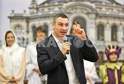 Kiev Mayor Vitaly Klitschko attended the Christmas Nativity Scene