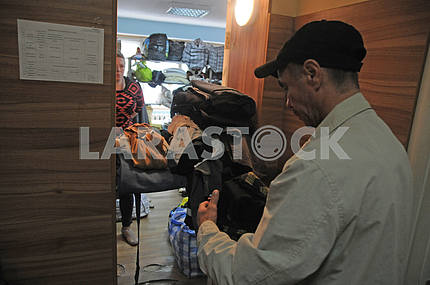 Dining room for low-income pensioners and homeless in Kiev
