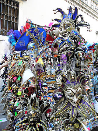 Carnival in Venice,fancy masks,2