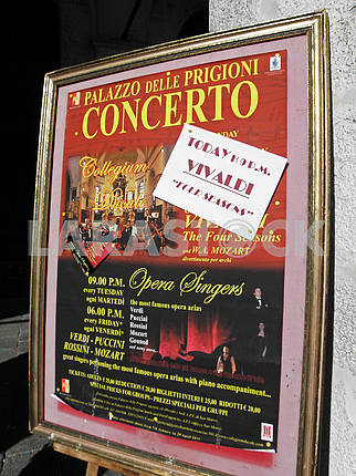 Venice by springtime,docks and lagoons,concert advertisment,11