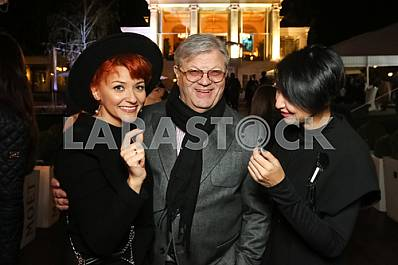 """Ilya November with his wife on the 10th anniversary of the magazine """"Focus"""""""