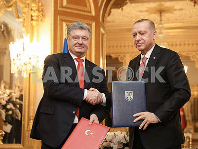 Petro Poroshenko and Recep Erdogan