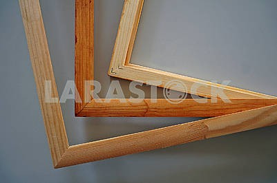 Finished wooden frames for paintings