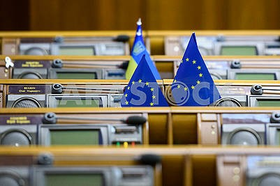 Flags of the European Union in the Verkhovna Rada