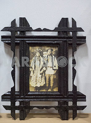 Photo of hutsuls in frame