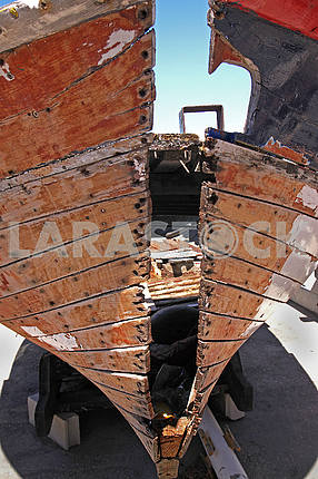Old wooden fishing boat