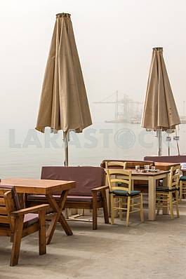 Empty cafe on the coast of Eilat
