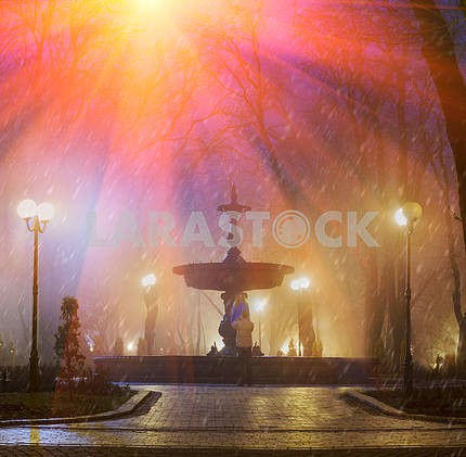 Old fountain in Mariinsky Park