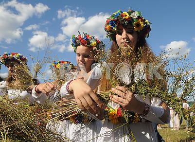 Weaving field wreaths